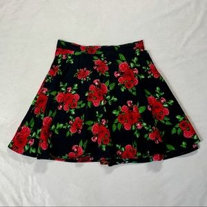 Hell Bunny Floral Mini Circle Skirt